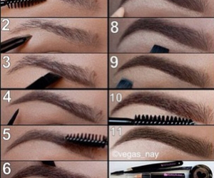 brow, diy, and make-up image