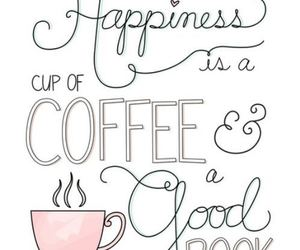 book, happiness, and coffee image