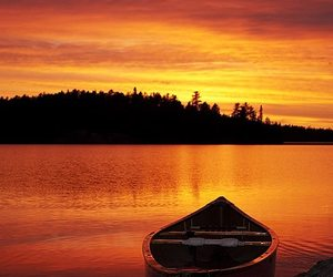 photography, sunset, and boat image