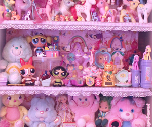 childhood, pink, and toys image