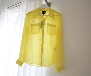 fashion, yellow, and blouse image