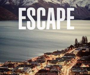 escape, city, and mountains image