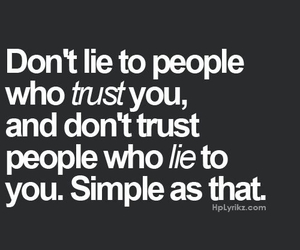 lie, trust, and people image