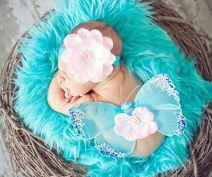 baby, blue, and lol image