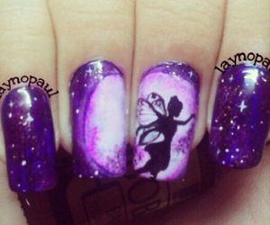 nail, purple, and nailart image