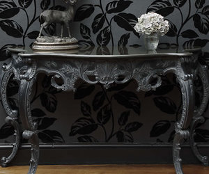 antiques, black, and chic image