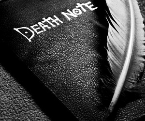 death note, anime, and death image
