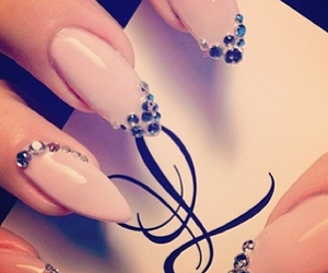 diamonds, nails, and pink image