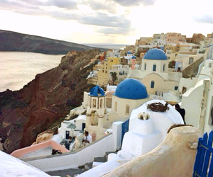 beautiful, santorini, and place image
