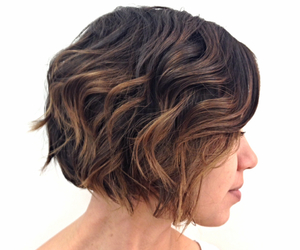 asymmetrical, hair, and ombre image