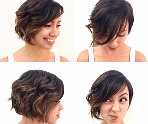 ombre, short hair, and balayage image
