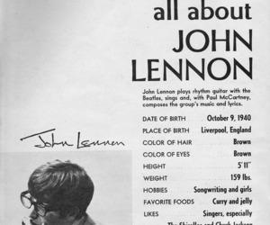 beatles, black and white, and john lennon image