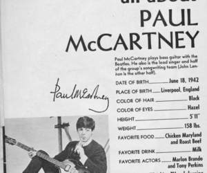 beatles, black and white, and Paul McCartney image