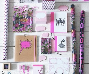 bag, office, and pink image