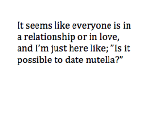 alone, black and white, and nutella image