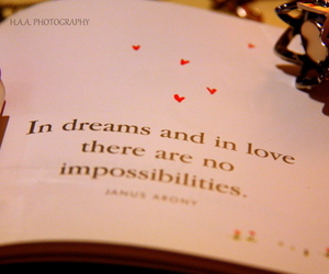 love, Dream, and quote image