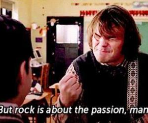 rock, passion, and school of rock image