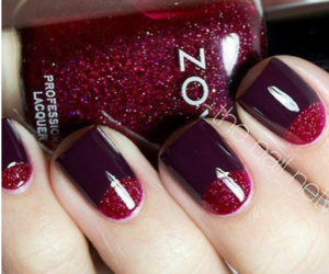 nails, pretty, and red image