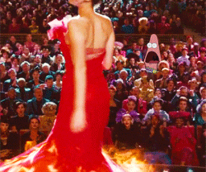 fire, the hunger games, and katniss image
