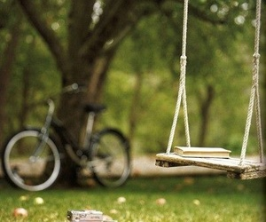 book, story, and swing image