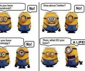 minions, facebook, and life image
