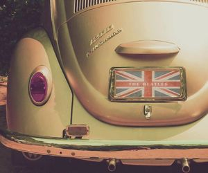 the beatles, car, and vintage image