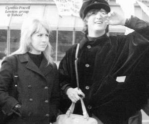 john lennon, the beatles, and cynthia lennon image