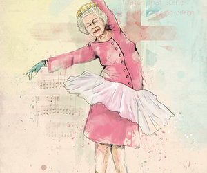 ballet, Ilustration, and old woman image