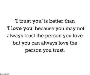 trust, love, and text image