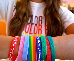 bracelet, colors, and girl image