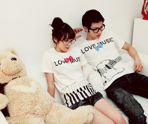 cute, couple, and love image