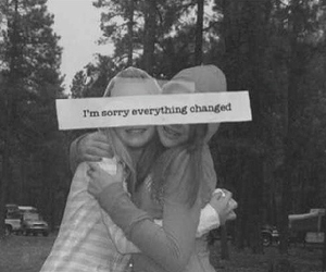 friends, quote, and sorry image