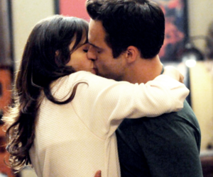 new girl, kiss, and couple image