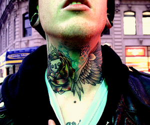 tattoo, boy, and neck image