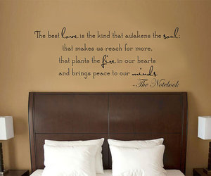 bedroom, decor, and quote image