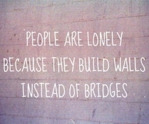quote, wall, and lonely image