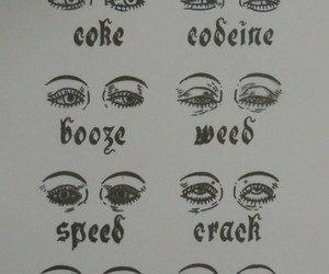eyes, drugs, and weed image