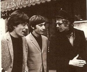 charlie watts, mick jagger, and andrew loog oldham image