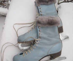 winter, skate, and snow image