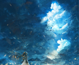 anime and clouds image