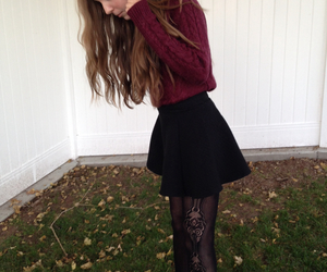 girl, sweater, and clothes image
