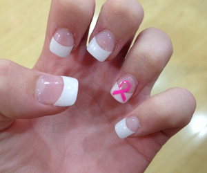 breast cancer, nails, and october image