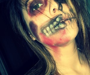 make up, scary, and zombie image