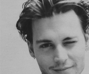 black and white and johnny depp image