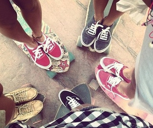 vans, girl, and friends image