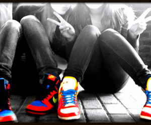 colour, nike, and shoes image