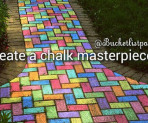 art, chalk, and colours image