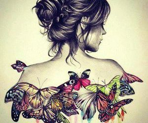 art, butterfly, and beauty image