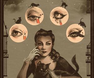 eye makeup, girl, and make up image