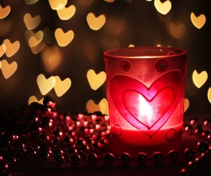 heart, bokeh, and candle image